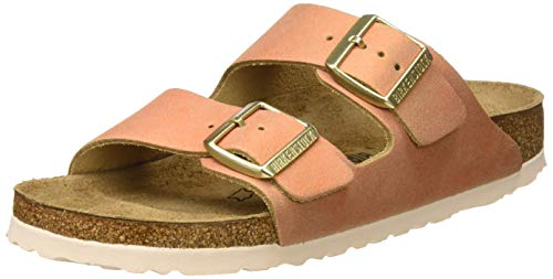 Birkenstock Arizona, Sandali a Punta Aperta Donna, Marrone Washed Metallic Sea Copper, 40 EU