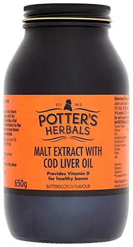 Potters Malt Extract and Cod Liver Oil with Butterscotch 650 g Test