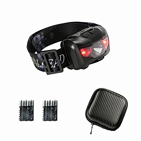 Lightweight and Super Bright LED Headlamp, Head Torch with 6