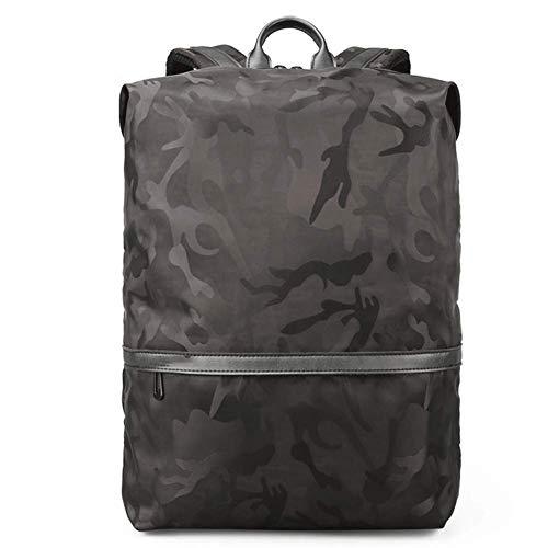 YHEB Laptop Rucksack - Computer Rucksack mit USB Ladeanschluss, Outdoor Reisetasche Laptop Camouflage Rucksack (43 * 29 * 14CM)-black