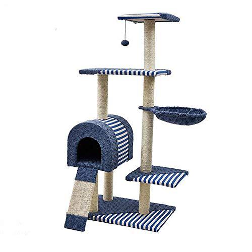 JJ Ihr Haus Cat kratzen Post PET Activity Center extra großen Baum mit Kratzer, seilbett & Liege