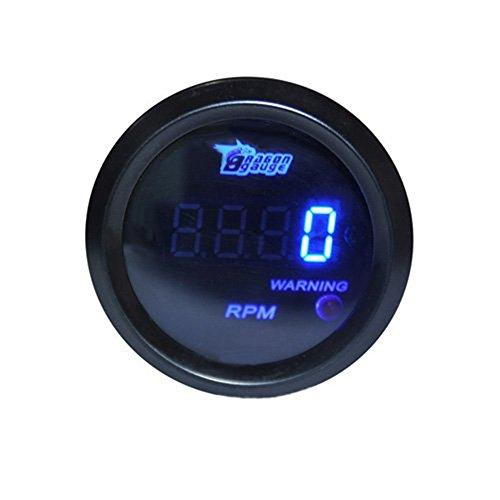 HOTSYSTEM Tacho Tachometer Drehzahlmesser Tourenzähler Digital LED 0-9999 RPM mit Warnleuchte