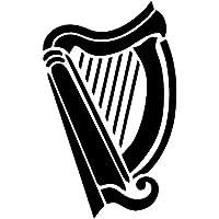Irische Harfe (A4) Airbrush, Wand-Kunst, aus Mylar, Schablone, wiederverwendbar, 125µm