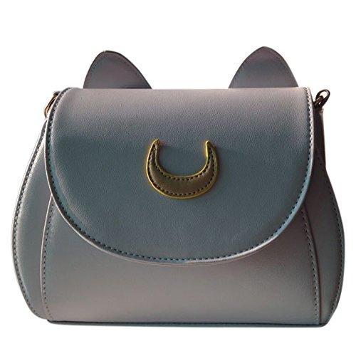 Preisvergleich Produktbild Tasche à bandouliã ¨ re à © e© Handschuh der Frau mit der Mond und die Ohren, niedliche Bote prägnant, Uni grau