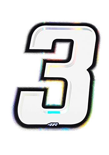 Quattro Erre 13253Número Racing blanco 3Slim