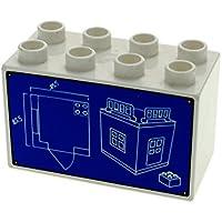 Bouwspellen LEGO DUPLO STEINBRUCH EISENBAHN ZOO 1 X dunkel Blau STÜTZE STÜTZPFEILER SÄULE