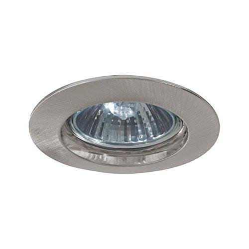 Paulmann 5796 Einbauleuchte Premium Line Einbaustrahler Eisen gebürstet Einbaulampe max. 1x50W Einbaulicht 230V Spot GU10 Deckeneinbaustrahler Außen Deckenleuchte Aluminium Silber