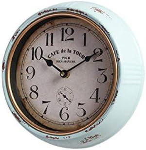 DollylaStore Horloge Murale Vintage Round Clock Wall Decor Home Salon Restaurant Décoration Murale Horloge Chambre Murale, SmallRouge models ( Size : TrumpetskyBleu models ) | Un Approvisionnement Suffisant
