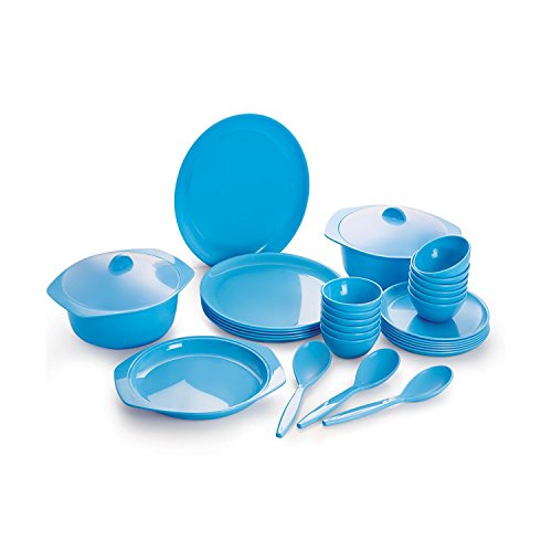 Cello Ware Round Dinner Set, 32-Pieces, Blue  available at amazon for Rs.1899