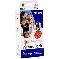 Epson C13T557040BH–PictureMate 500foto cart & carta
