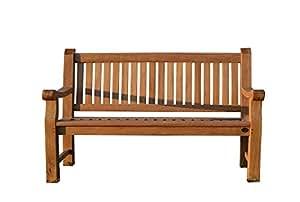 furniture4life Hochwertiger Teak DREISITZER Parkbank Elefantenbank Gartenbank Sitzbank Garten Bank