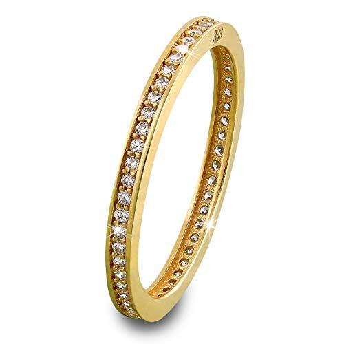 SilberDream Gold Ring 8 Karat Zirkonia weiß Kreis Gr.54 333er Gelbgold D3GDR504Y54