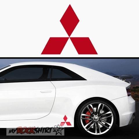 2 x Mitsubishi Logo 15 cm Aufkleber,Sticker von myrockshirt ®, Autoaufkleber,Auto,Lack,Scheibe, Tuning , Racing aus Hochleistungsfolie ohne Hintergrund Profi-Qualität viele Farben zur Auswahl MADE IN GERMANY (Mitsubishi Auto Aufkleber)