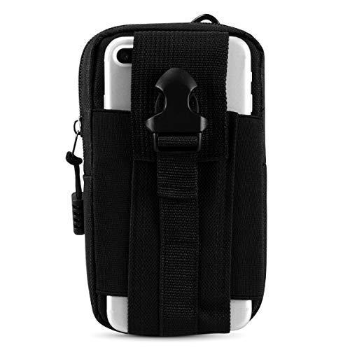 IronSeals Tactical Smartphone Tasche Universal Handy Gürteltasche EDC Security Pack Carry Accessory Pouch Gürtelschlaufen Hüfttasche, schwarz, Einheitsgröße Universal Mobile Pouch