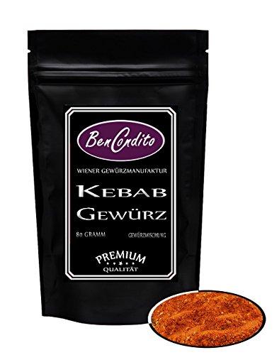 Kebab oder Döner Gewürz - Türkische Gewürzmischung | Fa. BenCondito | 80 Gramm in der Gewürzdose (Gramm-türkisch)