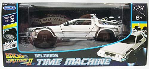 OPO 10 Delorean fliegendes Auto (mit abnehmbaren Rädern) aus dem Film Back to The Future II - Maßstab 1:24