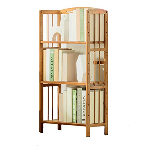 QZz Home® Bücherregal Regal aus Bambus Bücherregal aus Mehrschichtholz (Farbe : 3-Order, Größe : 50cm) (3-regal Master)