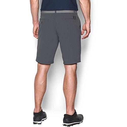 Under Armour 2017 HeatGear Match Play Tapered Flat Front Mens Funky Golf Shorts Rhino Gray 34