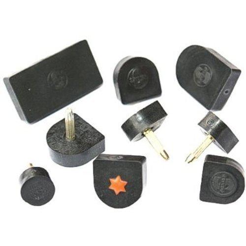 1-Paar-Abstze-10-x-10mm-U-Form-schwarz-Kunststoff-Ersatz-Absatz-StiftfleckenN
