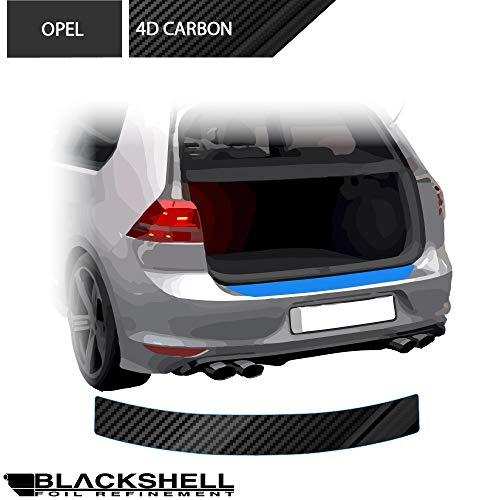 BLACKSHELL Ladekantenschutz inkl. Premium Rakel für Mokka X ab 2016 Carbon Glanz - passgenaue Lackschutzfolie, Auto Schutzfolie, Steinschlagschutz, Stoßstangenschutz