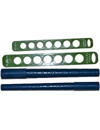 4 teiliges Ringmaß & Ringdorn Set - Hilfsgerät zum Drahtformen / Ringfingergröße ermitteln- Durchmesser 15-21,5 mm