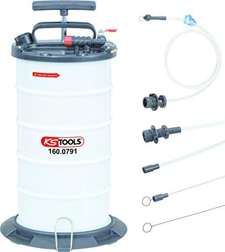 KS Tools 160.0790 Vakuum-Absaugpumpe 9,5 Liter inklusive 4 Sonden