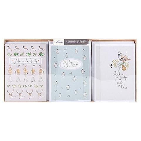 Hallmark Lot de 12 cartes de Noël Motif