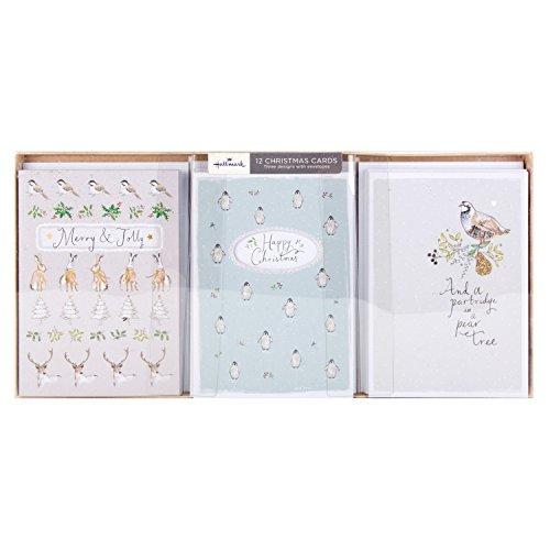 hallmark-tarjeta-de-navidad-pack-merry-jolly-12-tarjetas-3-disenos
