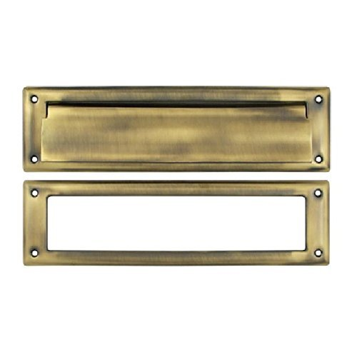 Deltana MS211U5 13 1/8-Inch Mail Slot with Solid Brass Interior Frame by Deltana
