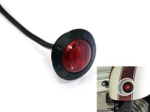 "2"" 50mm Runde Motorrad Deko Kotflügel Flächenbündige Montage LED Stop / Rücklicht Wasserdicht Ideal für Cafe Racer Street Scrambler Projekt"