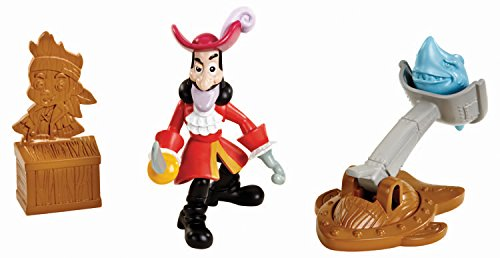 Fisher Price Disney Captain Jake & The Neverland Pirates Figures - Hook'S Shark Slinger (Cbf45)