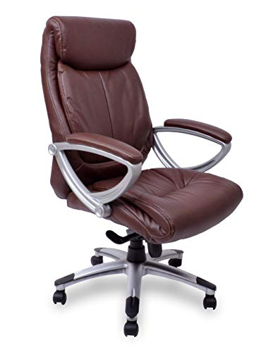 Chefsessel Kings - Braun Silber Kunstleder - Das Original - Bürostuhl Schreibtischstuhl Drehstuhl Sessel Stuhl PokerStuhl Casinostuhl Gamerstuhl