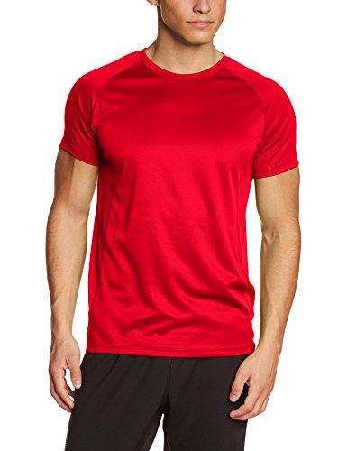 Lower East atmungsaktives Herren Freizeit und Funktions T-Shirt mit Rundhalsausschnitt, in verschiedenen Farben, Gr. Large, Rot