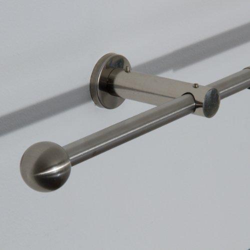 Gardinenstange Mit folgender Formel errechnet man die Gardinenstangenlänge: Gardinenstangenlänge = Fensterbreite + ca. 20 cm Überstand links + ca. 20 cm Überstand rechts.