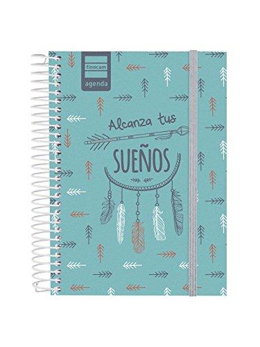 Finocam Prints - Agenda 2018-2019 1 día página español, 120 x 164 mm, sueños