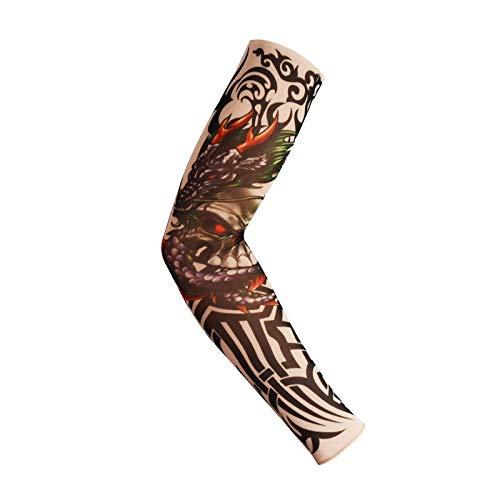 CXQ Großhandel Tattoo Manschette Blume Arm Ärmel Tattoo Männer und Frauen Eis kühlen Ärmeln Sommer Reiten Fahren Sport Arm Ärmel Ärmel, 35
