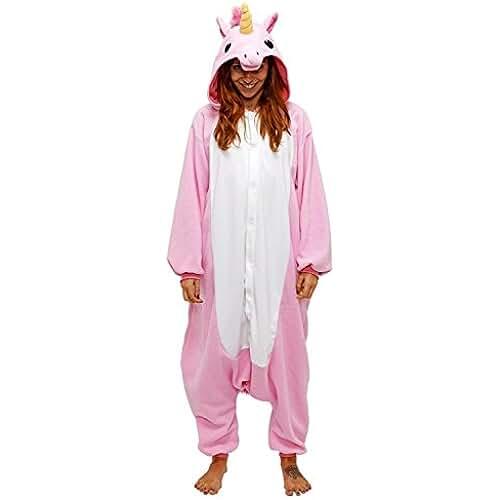 pijama de unicornio kawaii Dizoe Unicornio Pijama Adulto Animales Kigurumi Trajes Disfraz Halloween Cosplay Ropa De Dormir