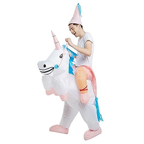 Dimmins Aufblasbares Kostüm für Erwachsene aufblasbar Reit mich Reitkostüm Schickes Kostüm (Halloween Aufblasbare Kostüme)
