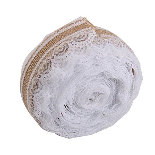 d Roll Vintage Spitzenband für Handwerk Home Hochzeit Party Dekoration (Billige Sackleinen-stoff)