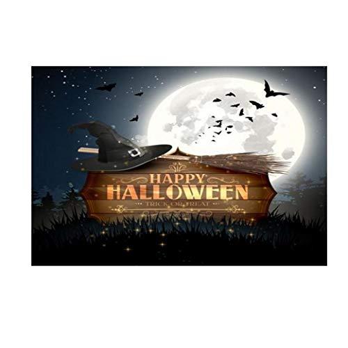 LANDFOX 3D Liebhaber Traum Glitter Fotografie Studio Requisiten Kulisse Halloween 150x90cm Backdrops Laterne Hintergrund Fotografie Studio Dekoration Hintergrund des Studiohintergrundes (Halloween Studio Requisiten)