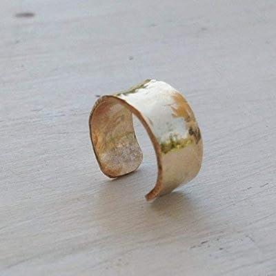 Boucle d'oreille manchette en or pour oreilles non percées doré classé 14k pour femme Réglable
