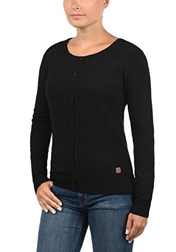 DESIRES Effie Damen Strickjacke Cardigan Feinstrick mit Rundhals-Ausschnitt aus hochwertiger Materialqualität Black (9000)