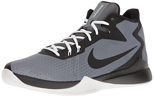 Nike Zoom Test Herren Basketballschuhe, Grau - grau/schwarz/weiß (Cool Grey/Black/White/Dark Grey) - Größe: 8 D(M) US
