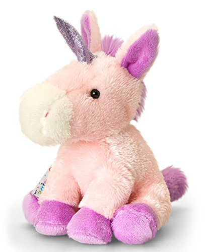 Plush-Animal-Unicorn-Sparkles-Pink-Pony--Soft-Toy-Horse-PIPPINS-Approx-14-cm