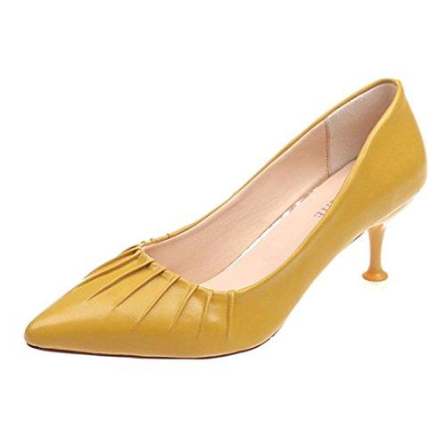 Zapatos puntiagudos mujer, Covermason Tobillo con aguja baja tacón alto para mujeres con tacones bajos