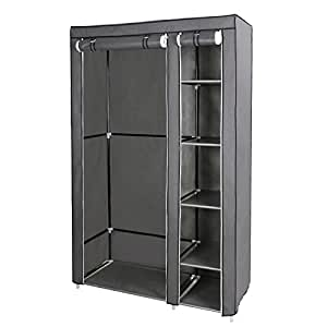 songmics armoire de rangement penderie de v tement pliable. Black Bedroom Furniture Sets. Home Design Ideas
