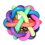 ZaPro Spielzeug Ball Hundespielzeug/Quitschend Wasserspielzeug Zahnpflege Kauspielzeug/in Groß und Klein, mit Glocke/Für Hund, Welpe und Katze/für Garten und Wasser (L)