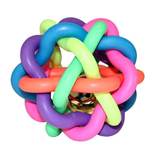 ZaPro Spielzeug Ball Hundespielzeug/Quitschend Wasserspielzeug Zahnpflege Kauspielzeug/in Groß und Klein, mit Glocke/Für Hund, Welpe und Katze/für Garten und Wasser (L) (Ball In Einem Ball Hund Spielzeug)
