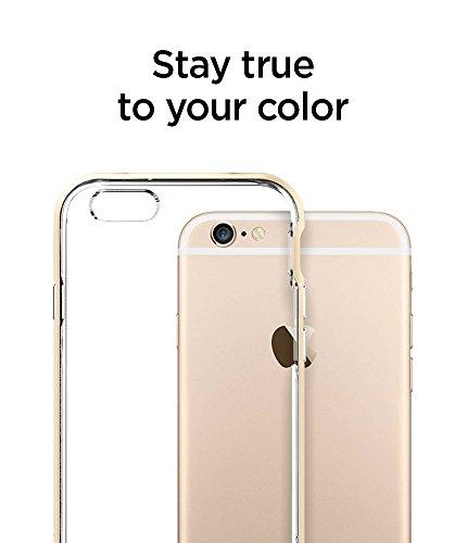 iPhone 6S Hülle, Spigen® [Neo Hybrid EX] Dual-Layer Schutzrahmen [Shimmery White] TPU Schale + PC Farbenrahmen / 2-teilige Premium Handyhülle / Schutzhülle für iPhone 6/6S Case, iPhone 6/6S Cover - Sh NHEX Champagne Gold