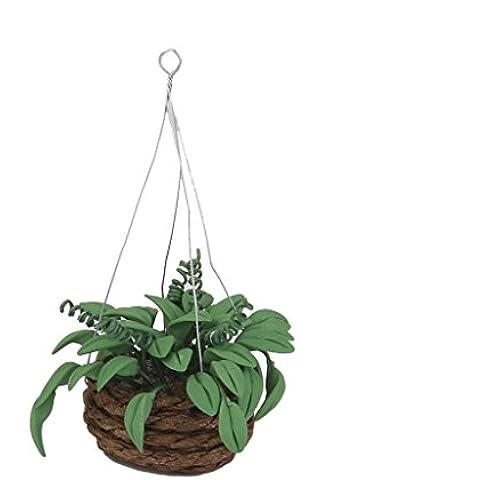 1/12 Planta Artificial Colgante en Miniatura Decoración para Casa de Muñecas Jardín